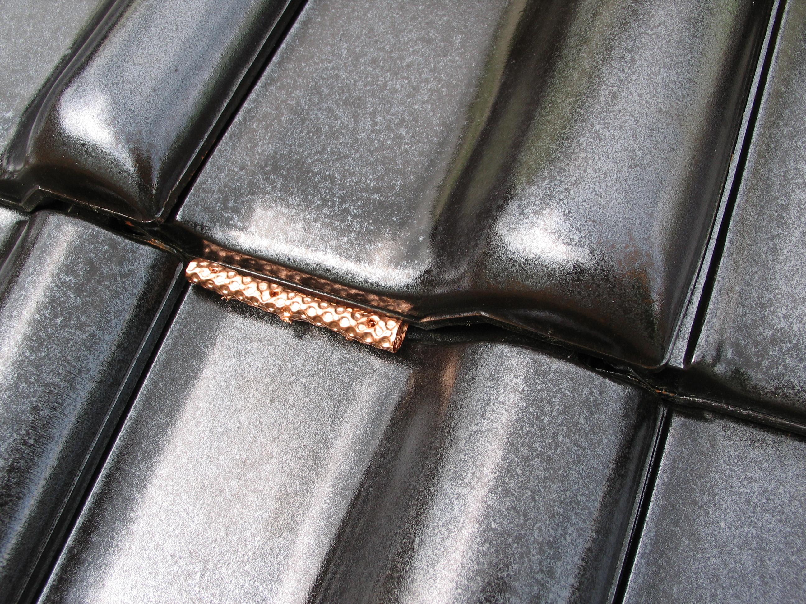 firstabdeckung aus kupferrolle mit 4 falten z 1 2. Black Bedroom Furniture Sets. Home Design Ideas